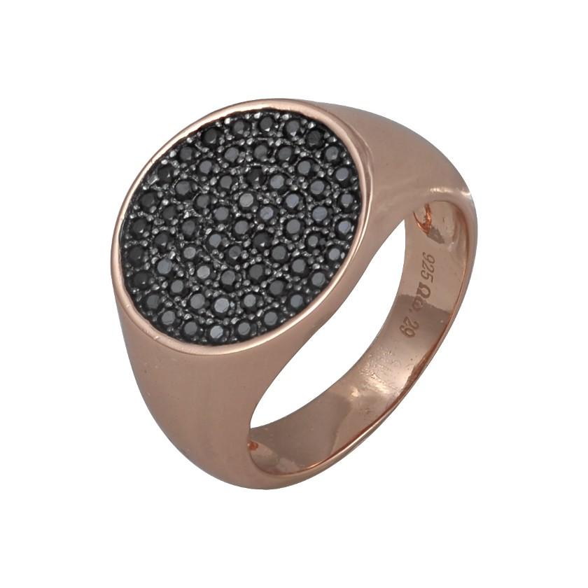 ΔΑΧΤΥΛΙΔΙΑ   Δαχτυλίδι σεβαλιέ ασημένιο Jools με ροζ επιχρύσωμα και ... 432d9b04718