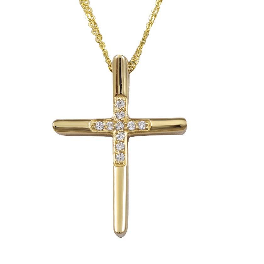 ΣΤΑΥΡΟΣ-ΑΛΥΣΙΔΑ   Σταυρός με αλυσίδα χρυσός Κ14 bf745858673