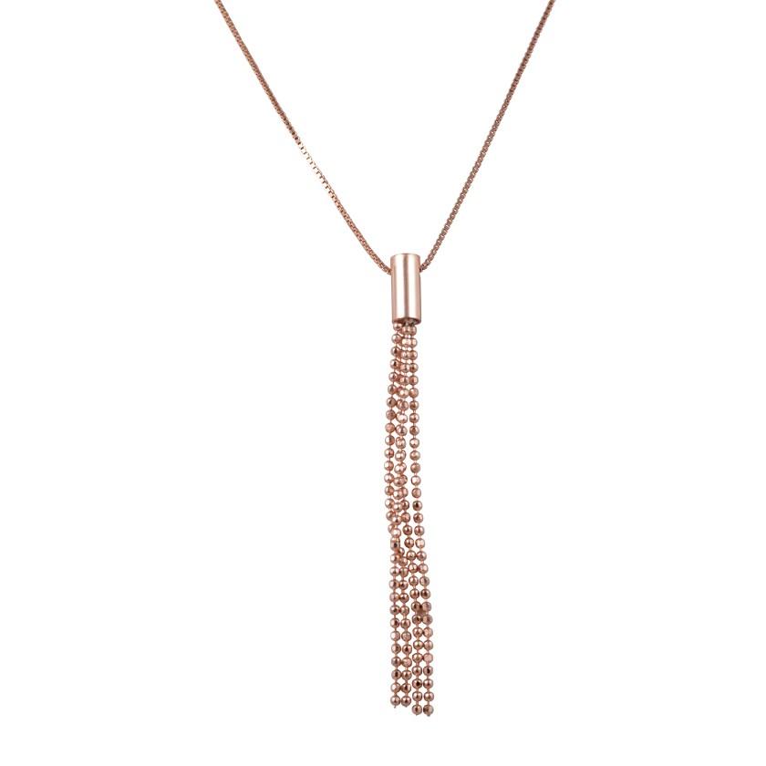 ΚΟΛΙΕ   Κολιέ ασημένιο 925 με ροζ επιχρύσωμα 48891338b21