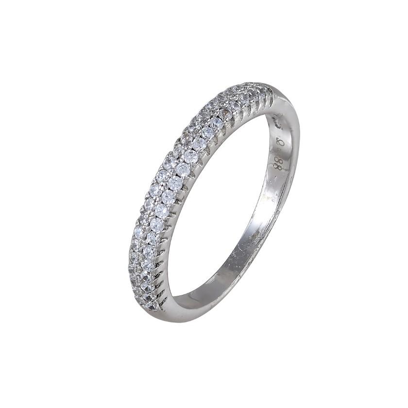 ΔΑΧΤΥΛΙΔΙΑ   Δαχτυλίδι ασημένιο 925 με λευκά ζιργκόν 70f7c03b78d